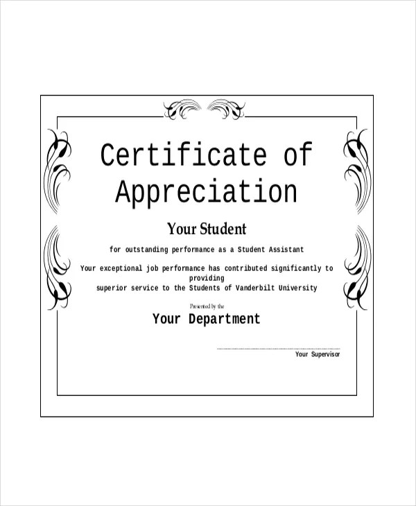 Appreciation Award Template - 6+ Free PDF Documents Download Free