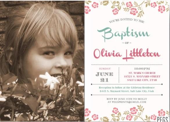 30+ Baptism Invitation Templates \u2013 Free Sample, Example, Format