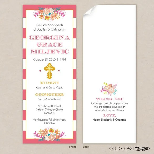 30+ Baptism Invitation Templates \u2013 Free Sample, Example, Format