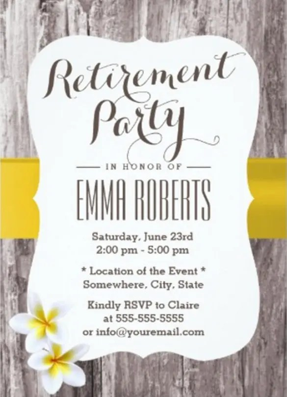 Retirement Party Invitation Templates  Sample Customer Service Resume