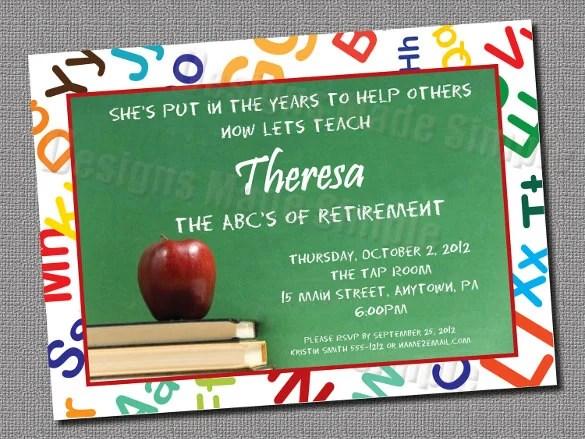 16+ Retirement Invitation Templates \u2013 Free Sample, Example, Format - retirement invitation templates free printable