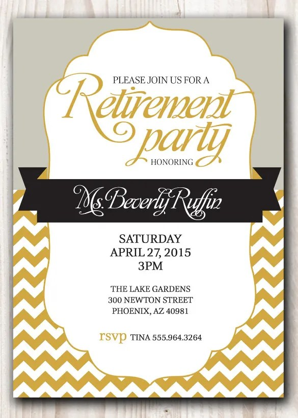 15+ Retirement Invitation Templates - Free Sample, Example, Format