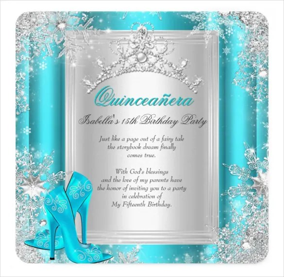 20+ Quinceanera Invitation Templates - Word, PSD, AI, EPS Free