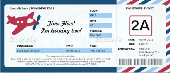 boarding pass birthday invitation template free - Ozilalmanoof - boarding pass template