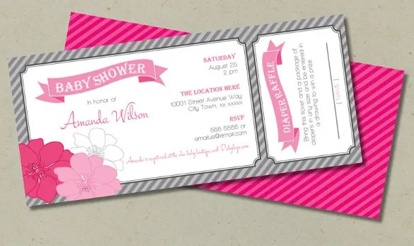31+ Ticket Invitation Templates \u2013 Free Sample, Example, Format - ticket paper template