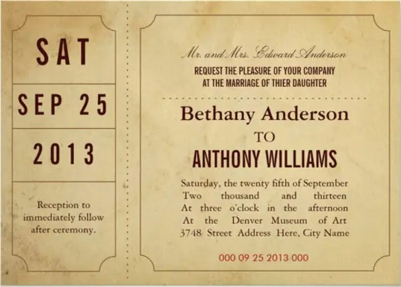 31+ Ticket Invitation Templates \u2013 Free Sample, Example, Format