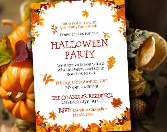 22+ Halloween Invitation Templates \u2013 Free Sample, Example, Format
