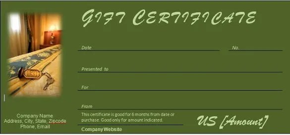 hotel gift certificate template - Goalgoodwinmetals - gift voucher templates for word