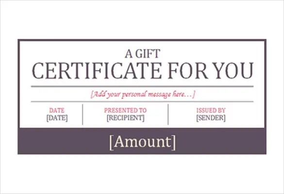 Hotel Gift Certificate Templates - 12+ Free Word, PDF, PSD, EPS - personalized gift certificates template free