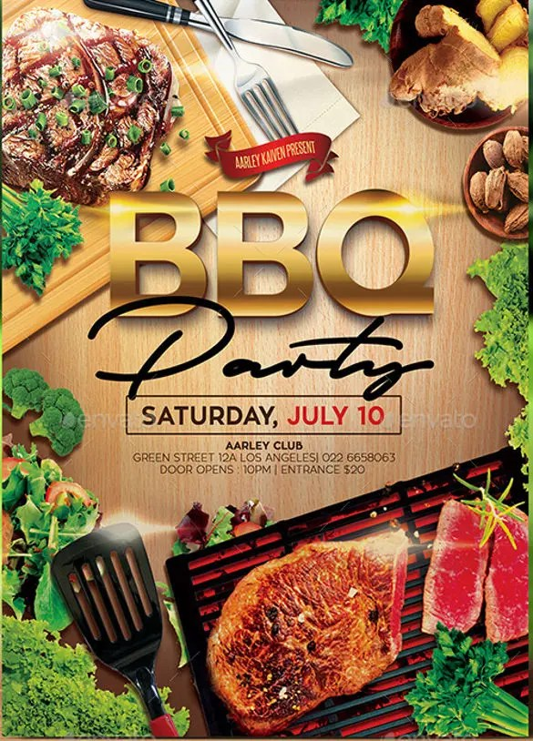 30+ Barbeque Invitation Templates u2013 Free Sample, Example, Format - bbq flyer