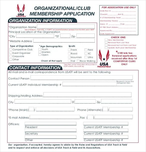 15+ Sample Club Application Templates - PDF, DOC Free  Premium