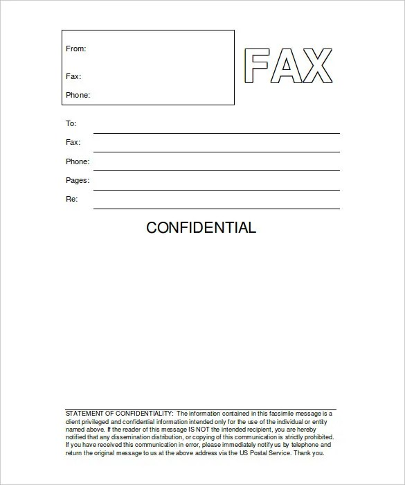 9+ Printable Fax Cover Sheets - Free Word, PDF Documents Download