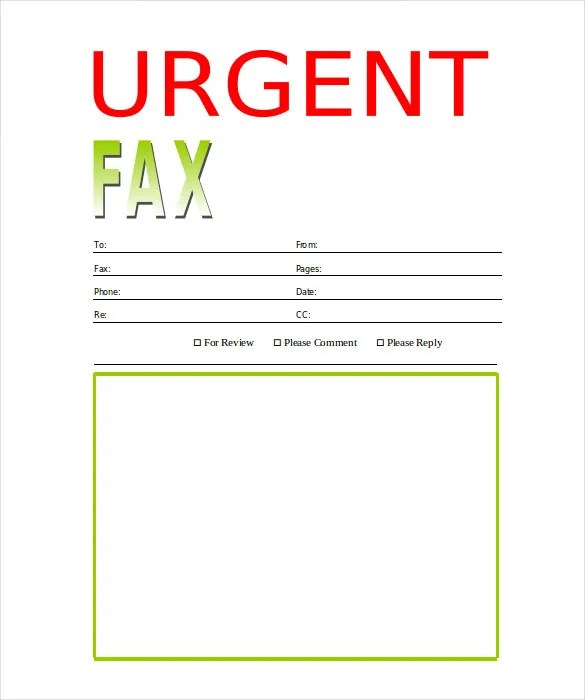 Fax Cover Sheet Template Printable Fax Cover Sheet Templates
