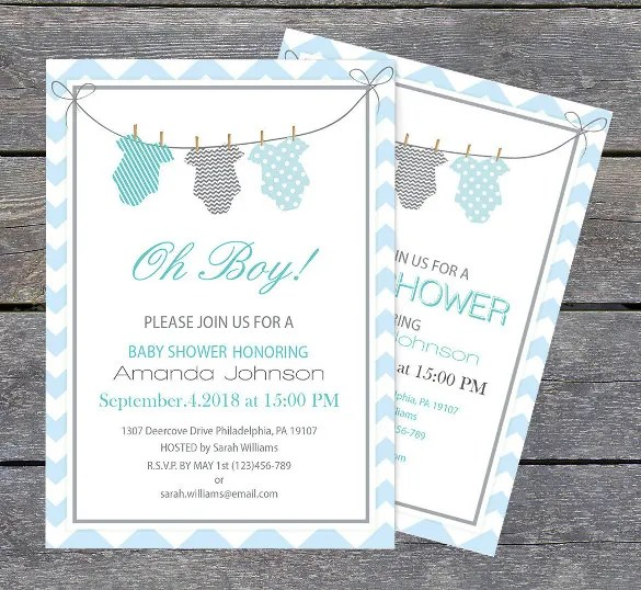 11+ Onesie Invitation Templates u2013 Free Sample, Example, Format - baby shower invite template free
