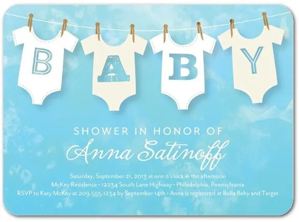 13+ Onesie Invitation Templates \u2013 Free Sample, Example, Format - free baby invitation templates