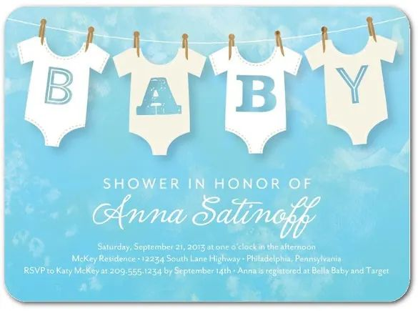 baby shower invitation templates word format