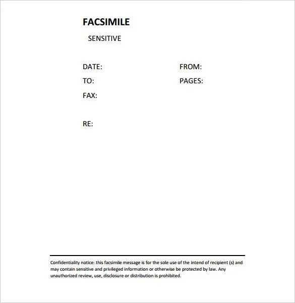 Confidential Fax Cover Sheet u2013 8+ Free Word, PDF Documents - fax cover sheet free