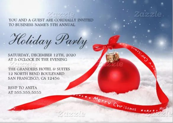 free christmas invitations templates