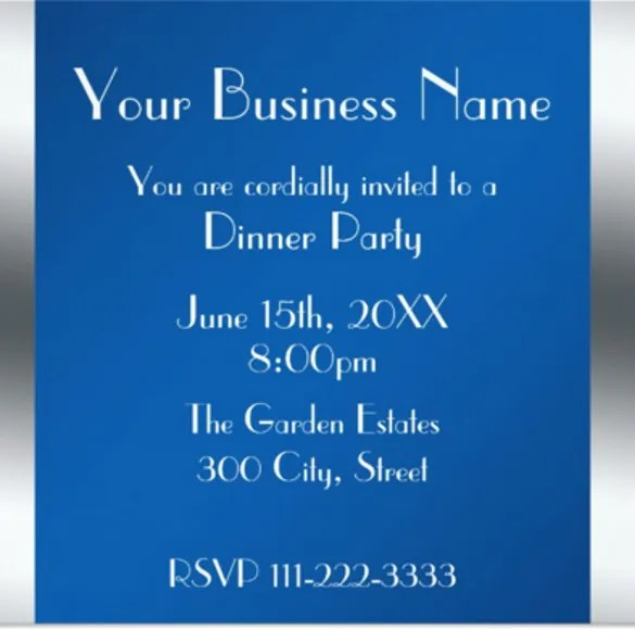 23+ Business Invitation Templates \u2013 Free Sample, Example, Format - Corporate Party Invitation Template