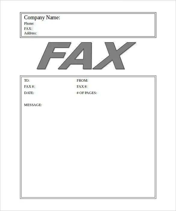 Business Fax Cover Sheet \u2013 10+ Free Word, PDF Documents Download - Fax Cover Sheet For Word