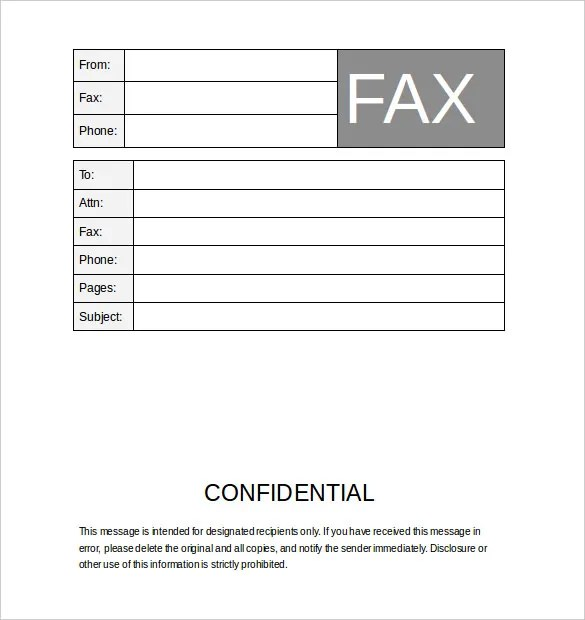 Blank Fax Cover Sheet - 9+ Free Word, PDF Documents Download! Free - Fax Cover Sheet For Word