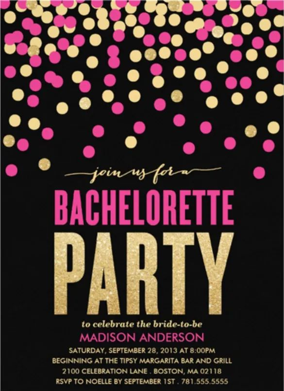 free bachelorette invitation templates