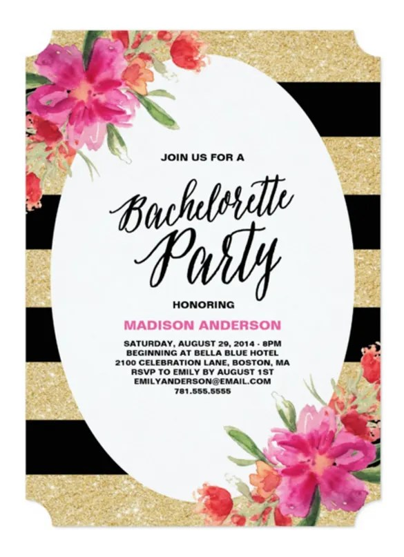 30+ Bachelorette Invitation Templates \u2013 Free Sample, Example, Format