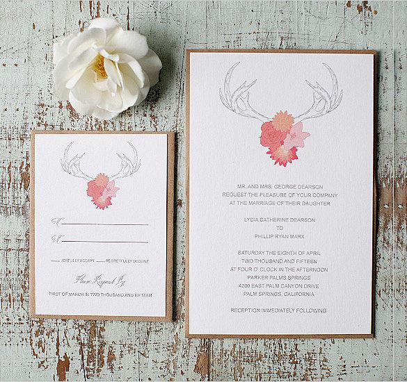 Rustic Wedding Invitation \u2013 18+ PSD, EPS, Indesign Formats Download
