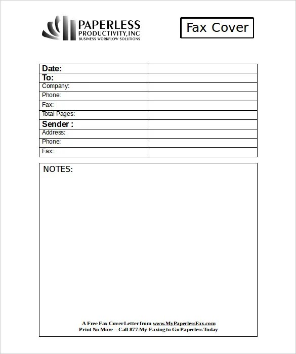 Professional Fax Cover Sheet \u2013 10+ Free Word, PDF Documents Download