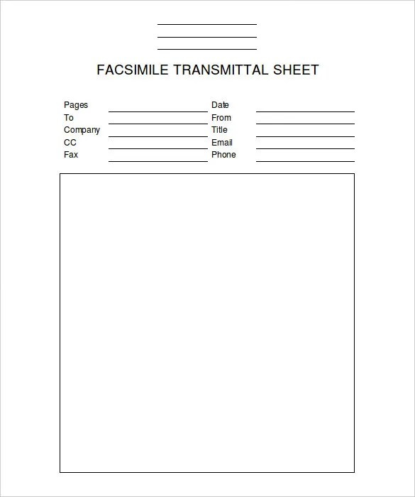 Professional Fax Cover Sheet - 8+ Free Word, PDF Documents Download