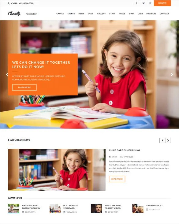 17+ Charity PHP Themes  Templates Free  Premium Templates