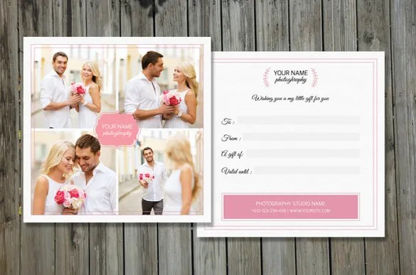 12+ Photography Gift Certificate Templates \u2013 Free Sample, Example