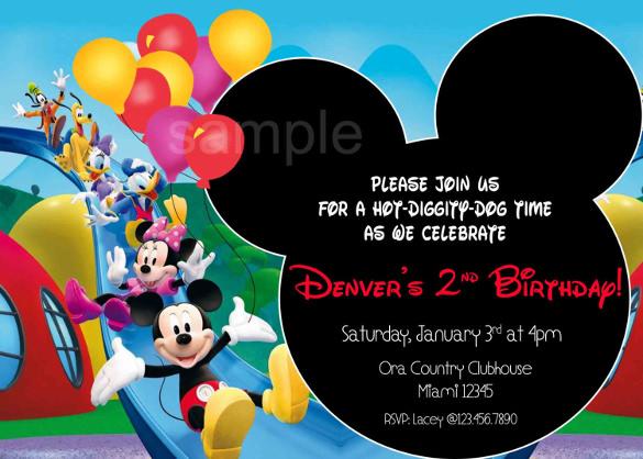 15+ Mickey Mouse Birthday Invitation Templates \u2013 PSD, Vector EPS, AI