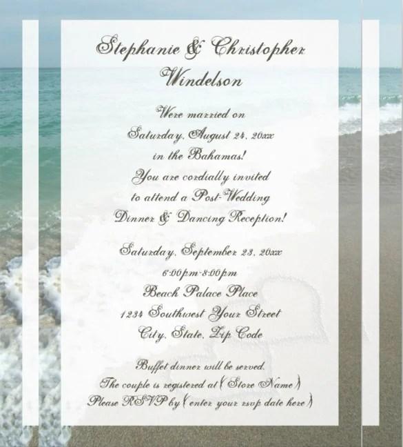 25+ Beach Wedding Invitation Templates u2013 Free Sample, Example - invitations templates