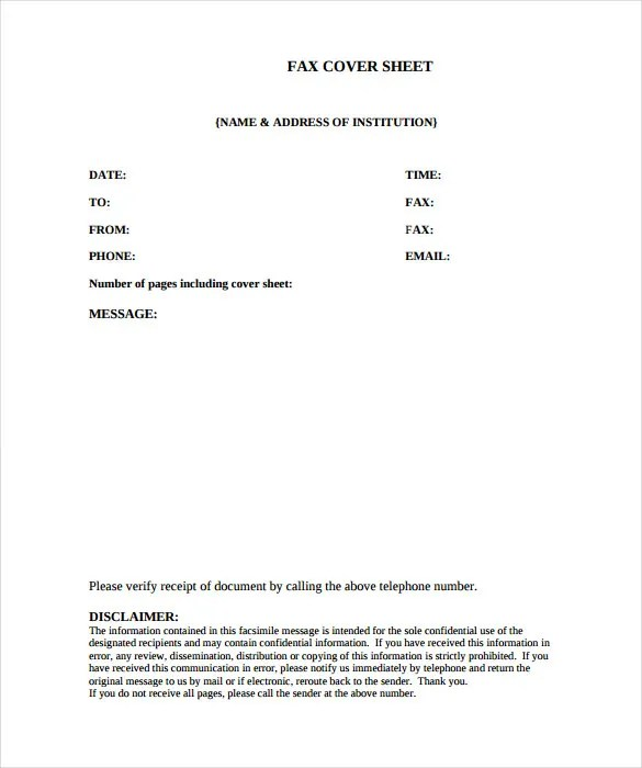 9+ Medical Fax Cover Sheet - Word, PDF Free  Premium Templates