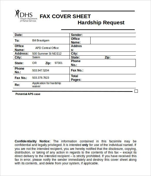 google fax template