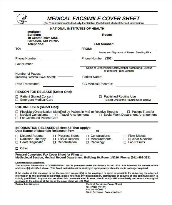 Sample Office Fax Cover Sheet 40 Printable Fax Cover Sheet - sample office fax cover sheet