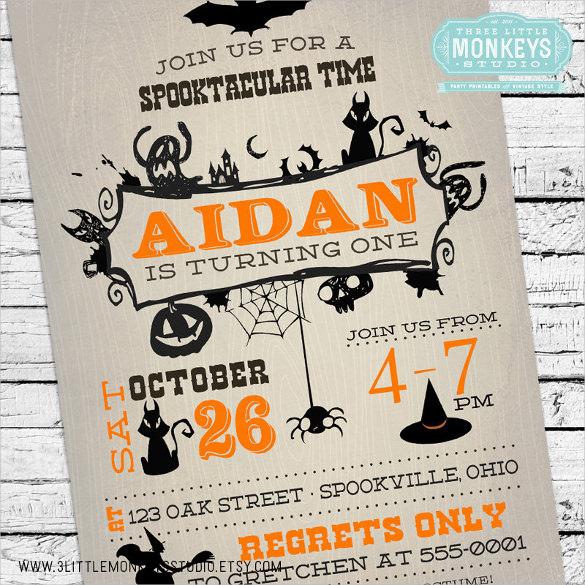 19+ Halloween Birthday Invitations \u2013 PSD, Vector EPS, AI Free