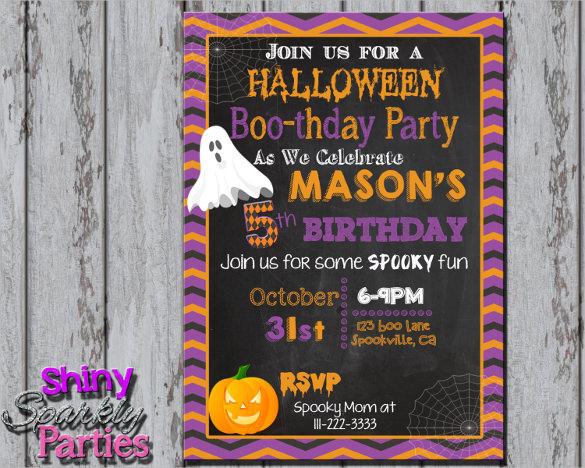 19 Halloween Birthday Invitations Psd Vector Eps Ai