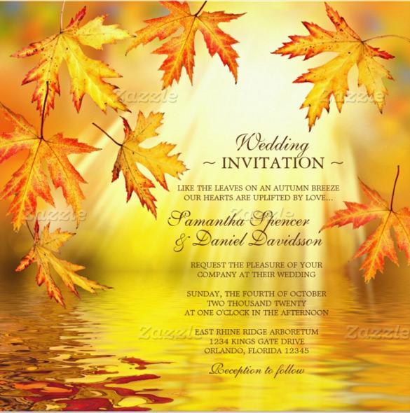 26+ Fall Wedding Invitation Templates \u2013 Free Sample, Example Format