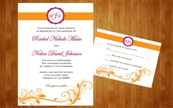 26+ Fall Wedding Invitation Templates \u2013 Free Sample, Example Format