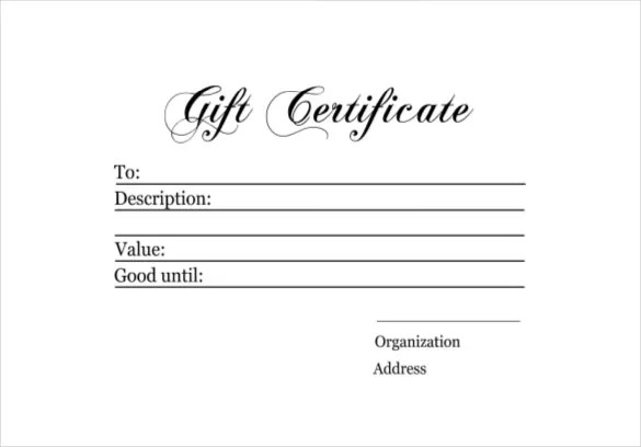 9+ Homemade Gift Certificate Templates \u2013 Free Sample, Example - gift voucher template