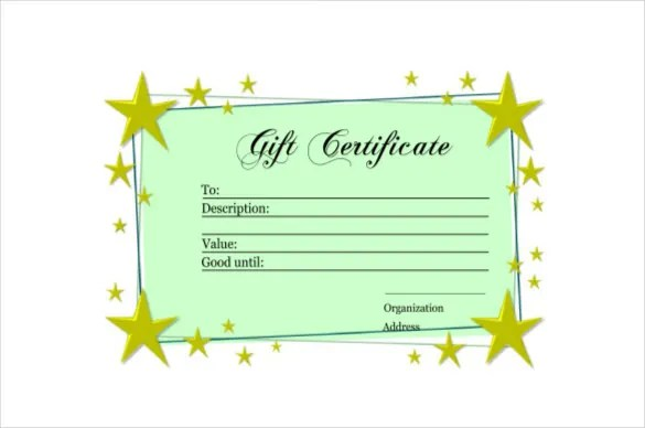 9+ Homemade Gift Certificate Templates \u2013 Free Sample, Example - free template for gift certificate