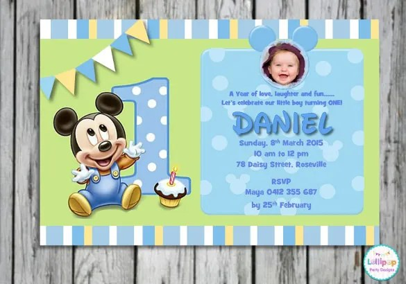 30+ Mickey Mouse Invitation Template Free  Premium Templates