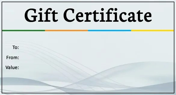 15+ Business Gift Certificate Templates \u2013 Free Sample, Example - business gift certificate template free