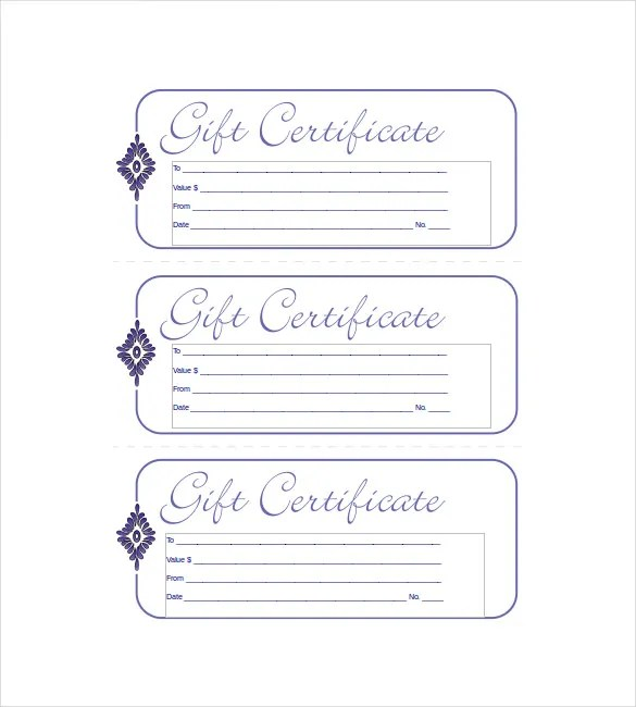 gift certificate template free download - Funfpandroid