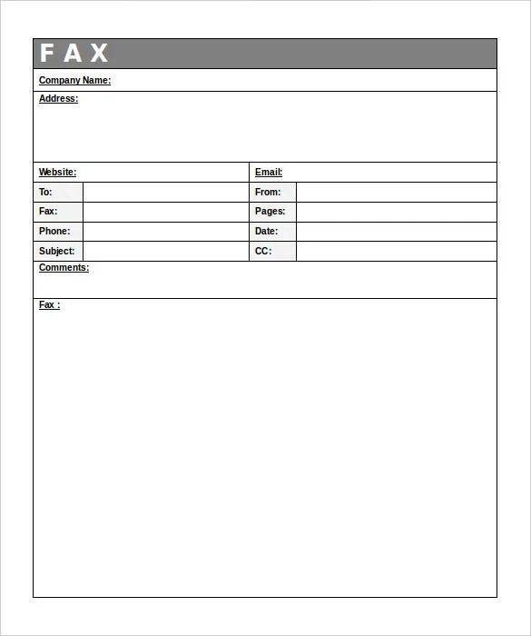 Generic Fax Cover Sheet \u2013 10+ Free Word, PDF Documents Download