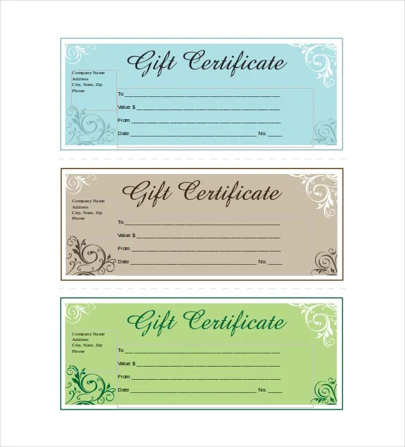 15+ Business Gift Certificate Templates \u2013 Free Sample, Example - gift vouchers templates