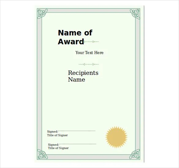 8+ PowerPoint Certificate Template \u2013 Free Sample, Example, Format