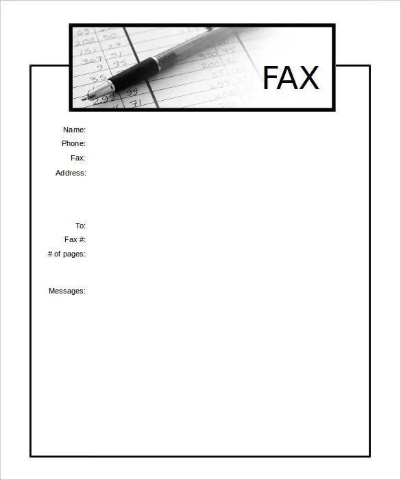 13+ Printable Fax Cover Sheet Templates \u2013 Free Sample, Example